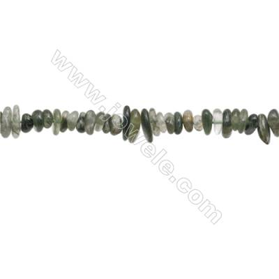 "Natural Moss Agate Beads Strand  Chips  Size 4~8x5~12mm  hole 0.8mm  15~16"" x 1strand"