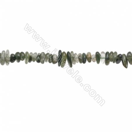 """Natural Moss Agate Beads Strand  Chips  Size 4~8x5~12mm  hole 0.8mm  15~16"""" x 1strand"""