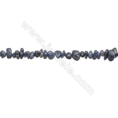 """Natural Sapphire Beads Strand  Chips  Size 4~9x5~12mm  hole 0.8mm  15~16"""" x 1strand"""