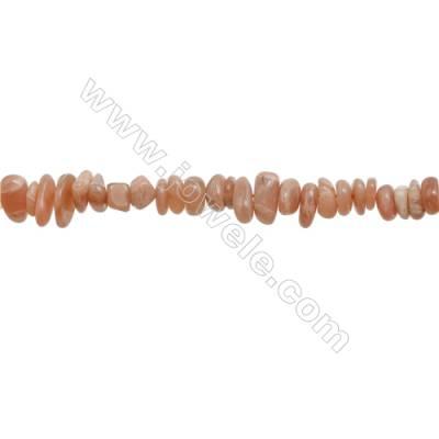 "Natural Sunstone Chips Strand  Size 5~8x6~12mm  hole 1mm  15~16"" x 1 Strand"