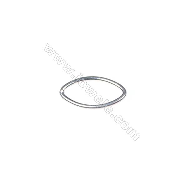 925 Sterling silver oval rings, 8x14mm, x 60pcs