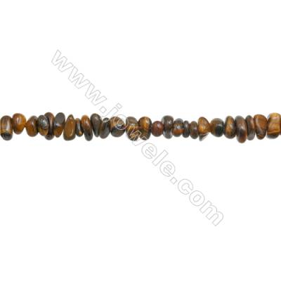 """Natural Tiger Eye Beads Strand  Chips  Size 4~8x5~13mm  hole 0.8mm  15~16"""" x 1strand"""