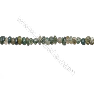 "Natural Moss Agate Beads Strand  Chips  Size 5~8x6~12mm  hole 0.8mm  15~16"" x 1strand"