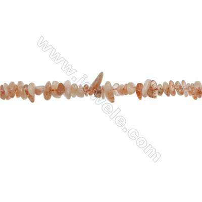"Natural Strawberry Quartz Beads Strand  Chips  Size 4~8x5~12mm  hole 0.8mm  15~16"" x 1strand"