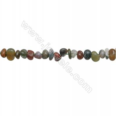 "Indian Agate Beads Strand  Chips  Size 5~8x6~12mm  hole 0.8mm  15~16"" x 1strand"