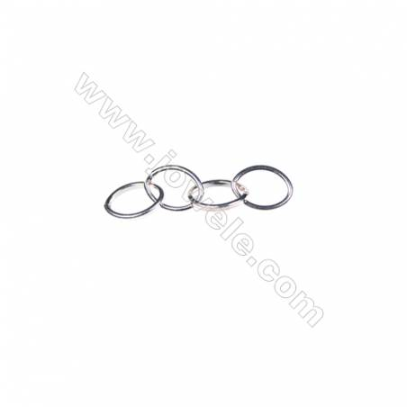 925 sterling silver four oval ring, 6x8mm, x 30pcs