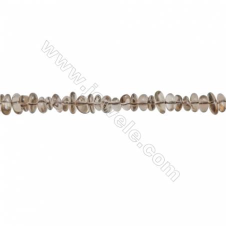 "Natural Smoky Quartz Beads Strand  Chips  Size 5~8x6~12mm  hole 0.8mm  15~16"" x 1strand"