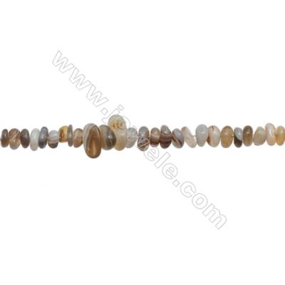"""Natural Botswana Agate Beads Strand  Chips  Size 4~8x5~13mm  hole 0.8mm  15~16"""" x 1strand"""