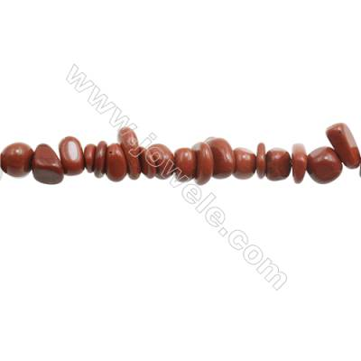 "Natural Red Jasper Beads Strand  Chips  Size 4~9x5~13mm  hole 0.8mm  15~16"" x 1strand"