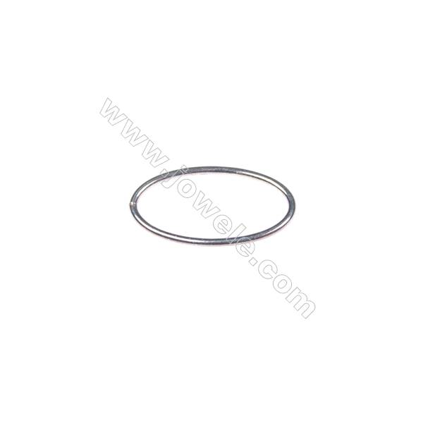 925 sterling silver oval ring, 10x19 mm, x 40 pcs