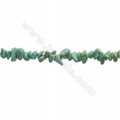 """Natural Turquoise Compound Beads Strand  Chips  Size 4~8x5~14mm  hole 0.8mm  31~32"""" x 1strand"""