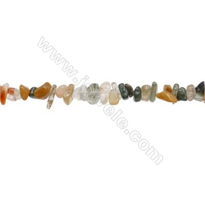 """Natural Mixture Gemstone Beads Strand  Chips  Size 4~8x5~14mm  hole 0.8mm  31~32"""" x 1strand"""