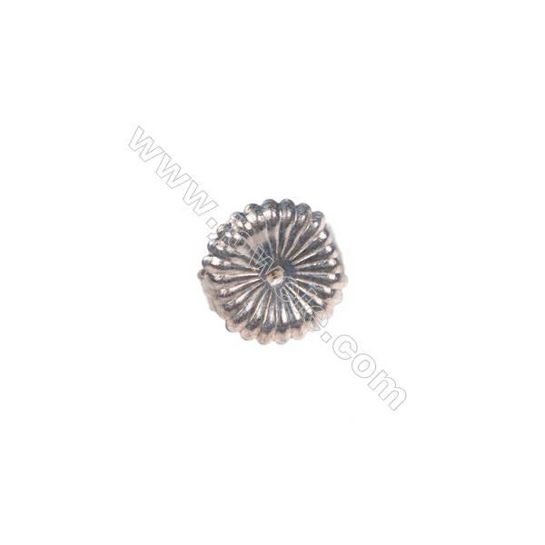 925 sterling silver earring findings, 9mm, x 30pcs, hole 0.8mm