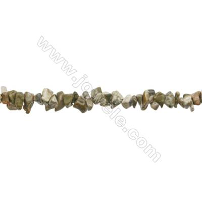 """Natural Rhyolite Beads Strand  Chips  Size 4~8x5~14mm   hole 0.8mm   31~32"""" x 1strand"""