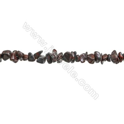 """Natural Red Tiger Eye Beads Strand  Chips  Size 4~7x5~14mm  hole 0.8mm  31~32"""" x 1strand"""