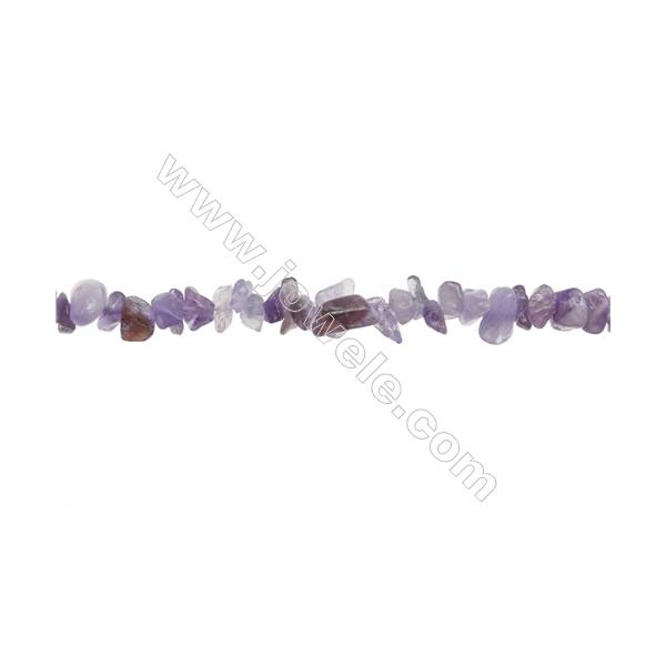 "Gemstone Amethyst Beads Strand  Chips  Size 4~7x5~14mm  hole 0.8mm  31~32"" x 1strand"