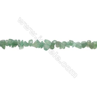 "Natural Green Aventurine Chips Strand  Size 4~7x5~14mm  hole 0.8mm  31~32"" x 1 Strand"