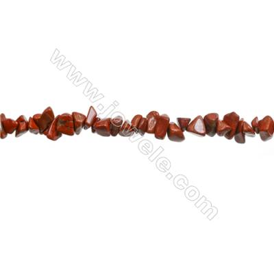 "Natural Red Jasper Beads Strand  Chips  Size 4~7x5~14mm  hole 0.8mm  31~32"" x 1strand"