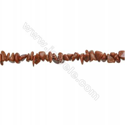 """Natural Goldstone Beads Strand  Chips  Size 4~8x5~14mm  hole 0.8mm  31~32"""" x 1strand"""