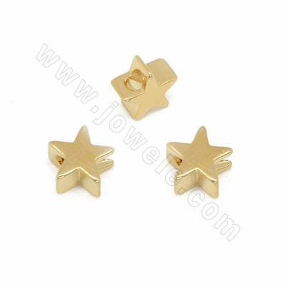 Brass Beads, Star, Golden...