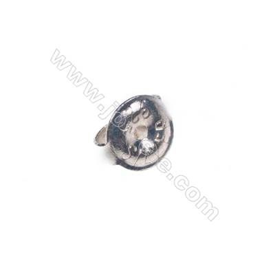 Wholesale 925 sterling silver earring findings, 6mm, x 50pcs, hole 0.8mm