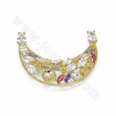 Brass Micro Pave Colorful...