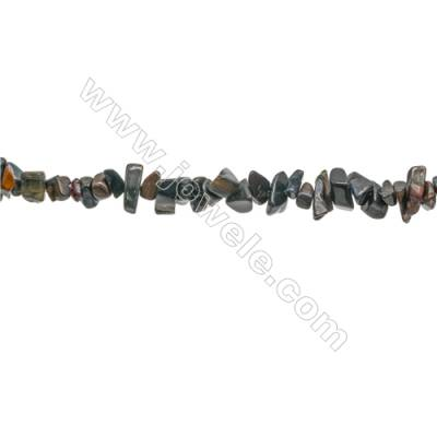 """Natural Blue Tiger Eye Beads Strand  Chips  Size 4~7x5~13mm  hole 0.8mm  31~32"""" x 1strand"""