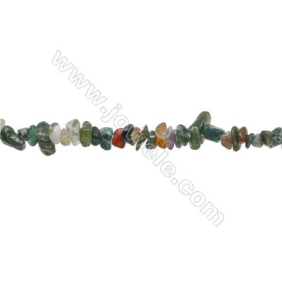 "Natural Indian Agate Beads Strand  Chips  Size 4~7x5~14mm  hole 0.8mm  31~32"" x 1strand"