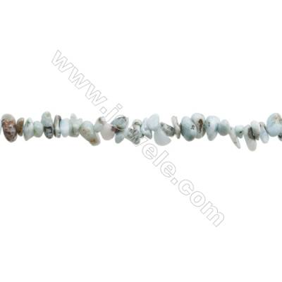 "Natural Larimar Beads Strand  Chips  Size 4~8x5~12mm  hole 0.8mm  31~32"" x 1strand"