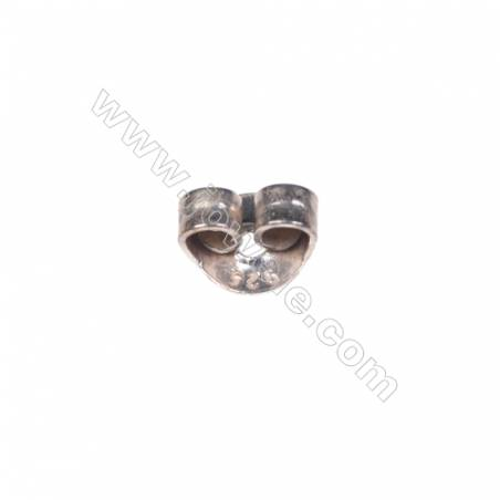 925 Sterling silver ear-nuts/clutches  ear findings  5mm x100pcs hole diameter 0.8mm