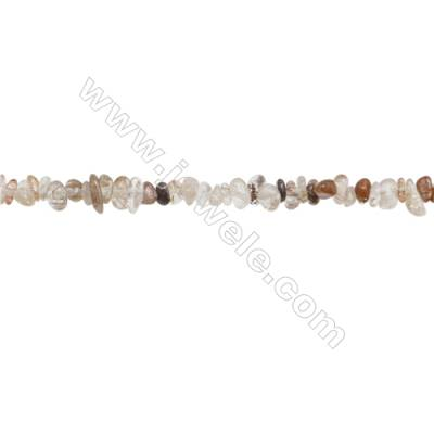 """Natural Rutilated Quartz Beads Strand  Chips  Size 4~8x5~12mm  hole 0.8mm  31~32"""" x 1strand"""