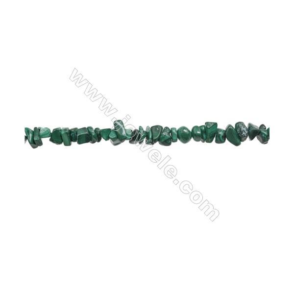 "Natural Malachite Beads Strand  Chips  Size 5~8x6~12mm  hole 0.8mm  31~32"" x 1strand"