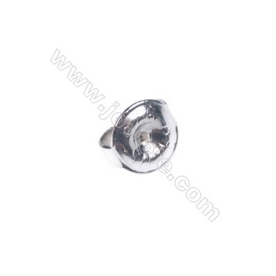925 Sterling silver earnuts earring findings, 6mm, x 70pcs, hole 0.8mm