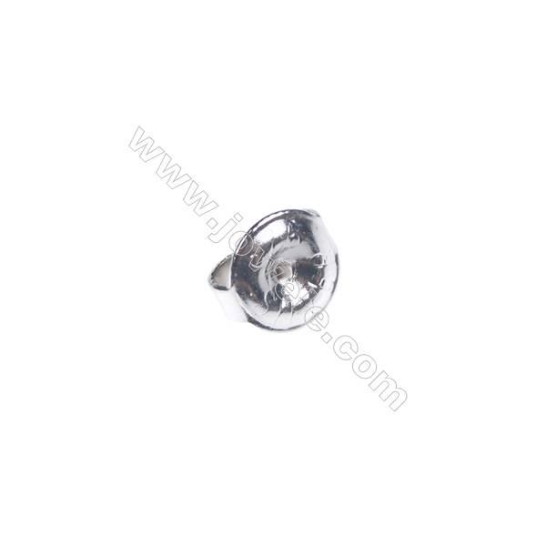 925 Sterling silver earnuts earring findings, 6mm, x 70pcs, hole 0.8mm