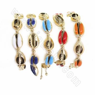 Plated shell bracelet...