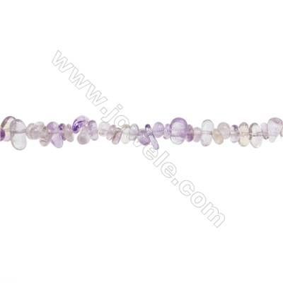 "Natural Amethyst Beads Strand  Chips  Size 4~7x5~12mm  hole 0.8mm  31~32"" x 1strand"