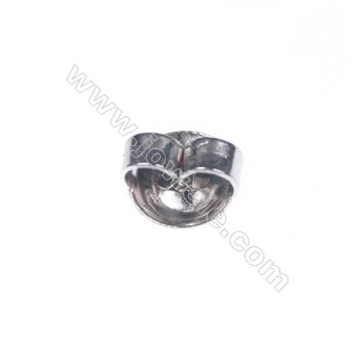 925 Sterling silver earnuts earring findings 6mm x 70pcs hole diameter 0.8mm