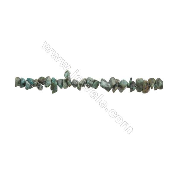 "Natural African Turquoise Chips Beads   Size 4~8x5~14mm  hole 0.8mm  31~32"" x 1 Strand"