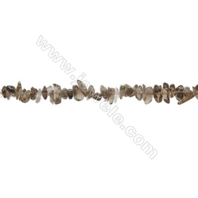 "Natural Smoky Quartz Beads Strand  Chips  Size 4~8x5~14mm  hole 0.8mm  31~32"" x 1strand"