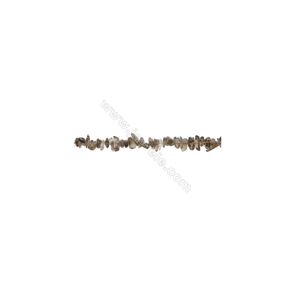 "Natural Smoky Quartz Beads Strand  Chips  Size 4~8x5~14mm  hole 0.8mm  31~32"" x 1strand"