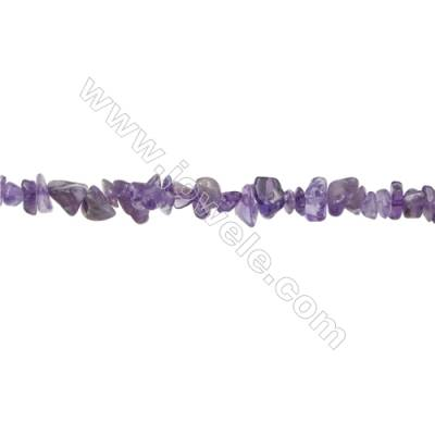 """Natural Amethyst Beads Strand  Chips  Size 4~7x5~14mm  hole 0.8mm  31~32"""" x 1strand"""