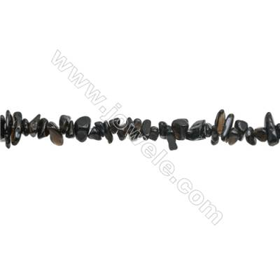 """Natural Obsidian Beads Strand  Chips  Size 4~8x5~14mm  hole 0.8mm  31~32"""" x 1strand"""