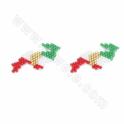 Miyuki glass seed beads...
