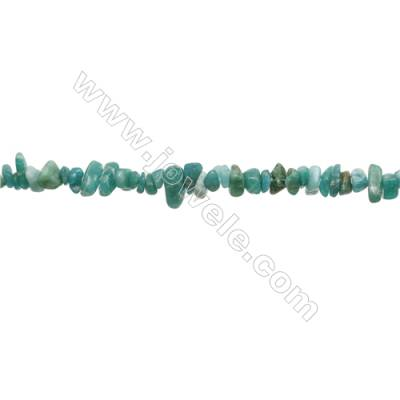 "Natural Amazonite Chips Strand  Size 4~7x5~14mm  hole 0.8mm  31~32"" x 1 Strand"