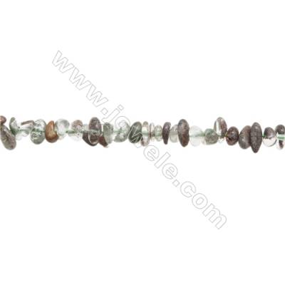"Natural Lodolite Beads Strand  Chips  Size 4~9x5~12mm  hole 0.8mm  15~16"" x 1strand"