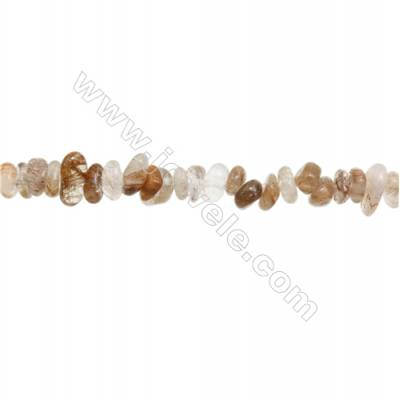 "Natural Rutilated Quartz Beads Strand  Chips  Size 5~9x6~13mm  hole 0.8mm  15~16"" x 1strand"