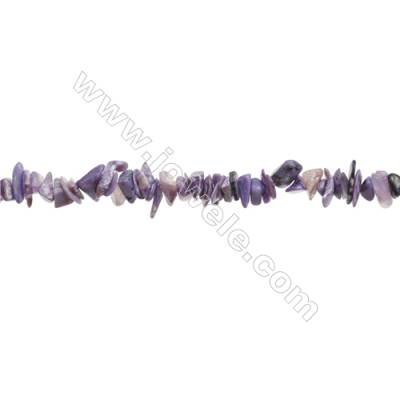 """Natural Charoite Chips Beads   Size 4~9x5~12mm  hole 0.8mm  15~16"""" x 1 Strand"""