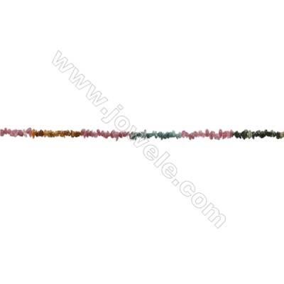 "Natural Alternated Tourmaline Beads Strand  Chips  Size 5~9x6~10mm  hole 0.8mm  15~16"" x 1strand"