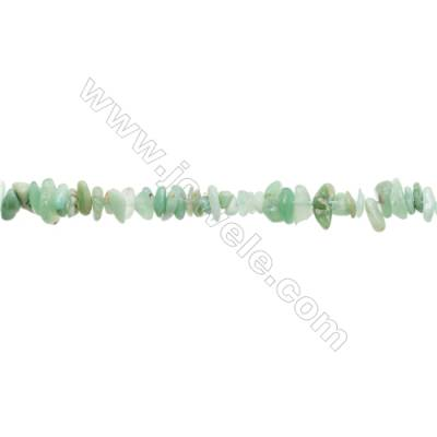 """Natural Chrysoprase Beads Strand  Chips  Size 4~9x4~11mm  hole 0.8mm  15~16"""" x 1strand"""