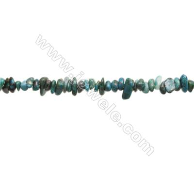 """Natural Chrysocolla Beads Strand  Chips  Size 4~6x5~11mm  hole 0.8mm  15~16"""" x 1strand"""